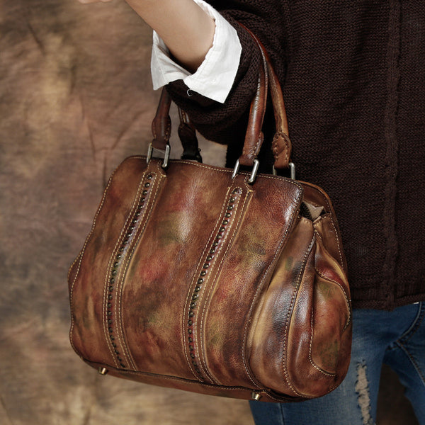 6b8c9aff13868 ... Vintage Leather Ladies Handbags, Full Grain Women Bags, Leather Package  T2363 ...