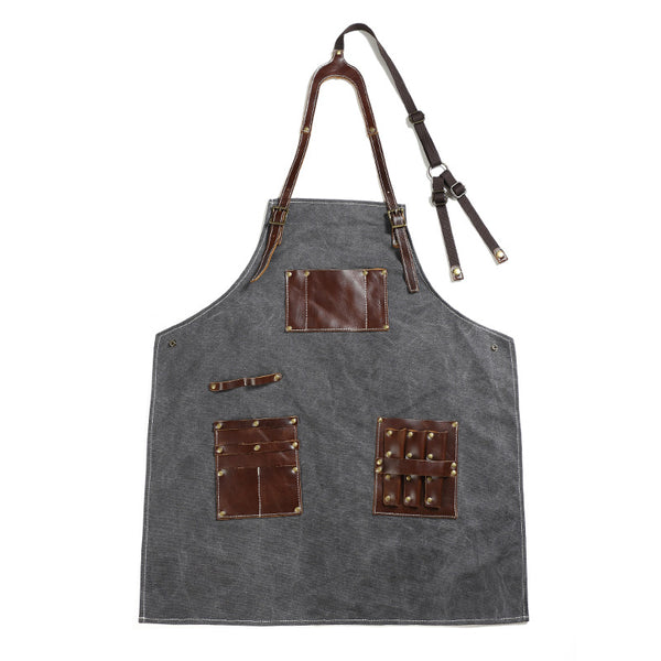 Vintage Canvas Apron Durable Craftsman Apron Work Apron Shop Apron FX888153