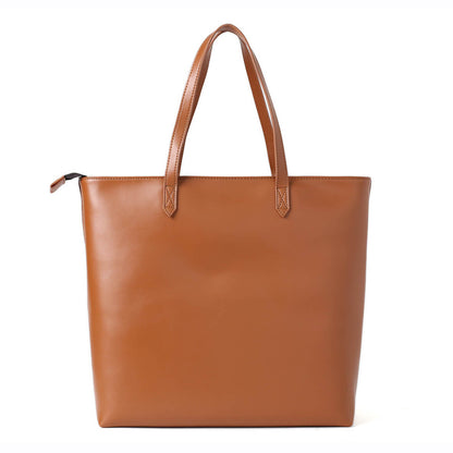Vintage Full Grain Leather Tote Bag, Shoulder Bag, Women Leather Shopper Bag 14082