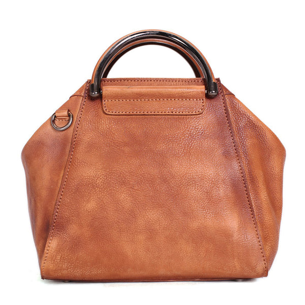 Vintage Full Grain Leather Women Handbag, Handmade Designer Bag, Leather Satchel Handbag WF52