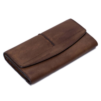 Vintage Style Full Grain Leather Wallet, Long Wallet, Men's Wallet 9056