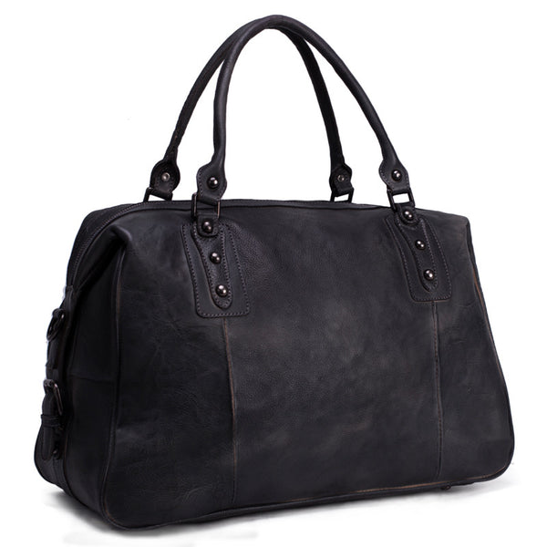649ab30f44 ... ROCKCOW Leather Duffel Bag for Men and Women Travel Luggage Gym  Briefcase Bag 9029 - ROCKCOWLEATHERSTUDIO ...