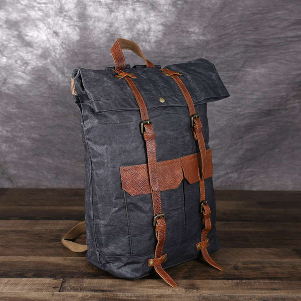 Waterproof Canvas Travel Backpack Large Capacity Laptop Backpack School Backpack YC15