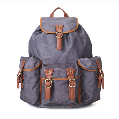 Waterproof Canvas Travel Backpack, School Rucksack, Large Men's Backpack, Cool Hiking Backpack FB15