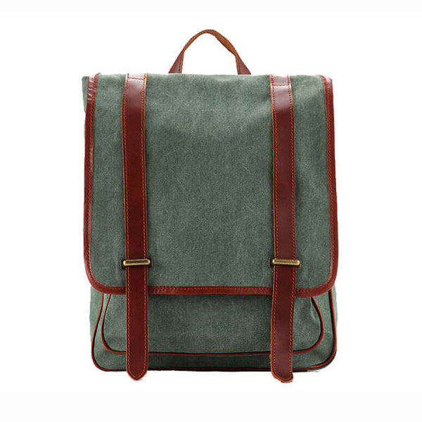710cc1834934 ... Waxed Canvas Backpack with Full Grain Leather