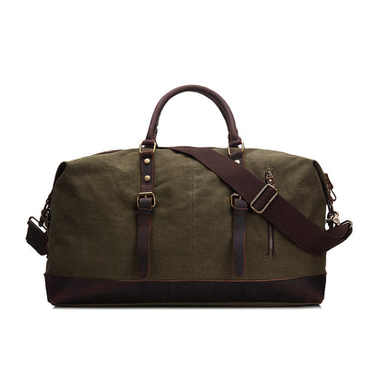 RockCow Canvas with Leather Duffle Bag, Travel Bags for Men