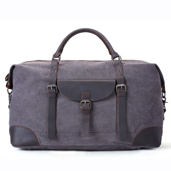 Waxed Canvas Overnight Duffle Bag, Holdall Bag, Sports Bag AF33 - ROCKCOWLEATHERSTUDIO