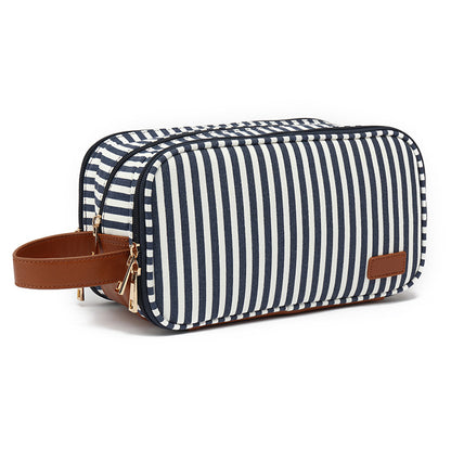 Women Canvas Toiletry Bags Waterproof Canvas Dopp Kit Stylish Clutch Bag Cosmetic Bag YY385