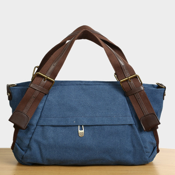Flash Sale  Canvas Fashion Travel Bag, Waterproof Shoulder Bag, Overnight Bag FB02 - ROCKCOWLEATHERSTUDIO