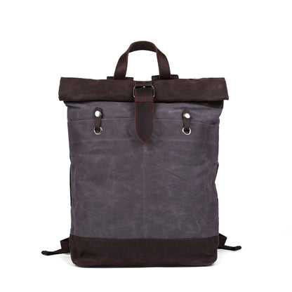 Flash Sale Waxed Canvas Leather Backpack, Student Backpack, Rucksack, School Backpack MC16950
