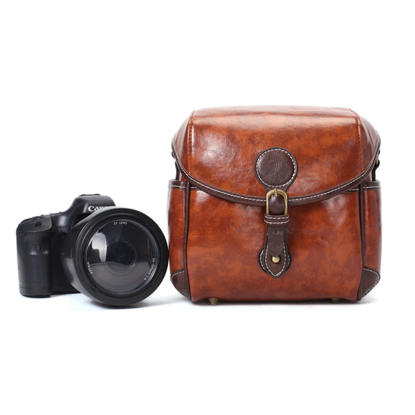 Flash Sale PU Leather DSLR Camera Purse, Vintage SLR Camera Case PU02 - ROCKCOWLEATHERSTUDIO
