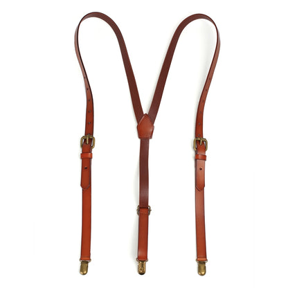 Leather Suspenders, Groomsmen Suspenders, Men's Braces - ROCKCOWLEATHERSTUDIO