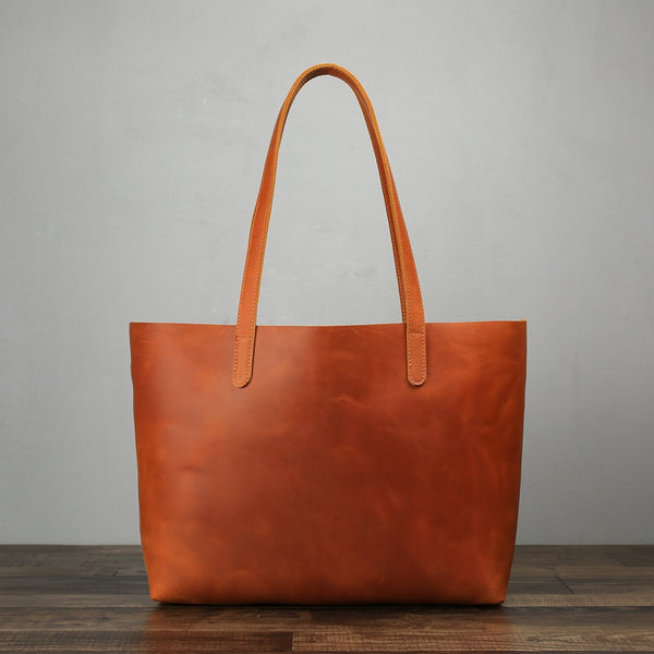 Handmade Women Fashion Leather Tote Bag, Vintage Shoulder Bag, Shopper Bag ZB01 - ROCKCOWLEATHERSTUDIO