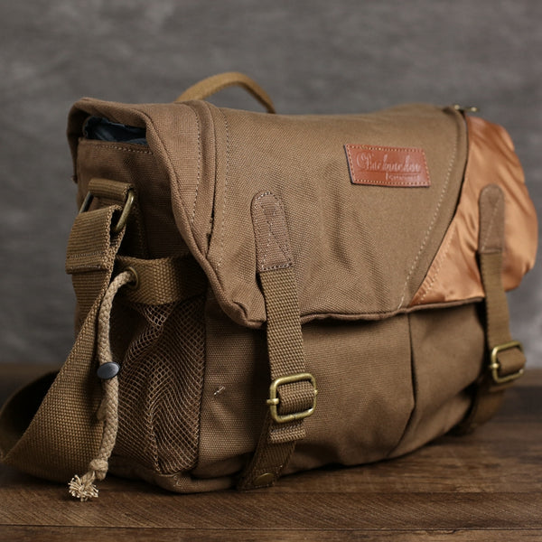 Flash Sale Canvas DSLR Camera Bag, Professional SLR Camera Bag, Men's Canvas Messenger Bag BBK-6 - ROCKCOWLEATHERSTUDIO