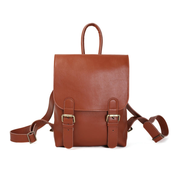 Flash Sale Women Leather Rucksack, Large Capacity Shoulder Bag, Top Grain Travel Backpack D100 - ROCKCOWLEATHERSTUDIO