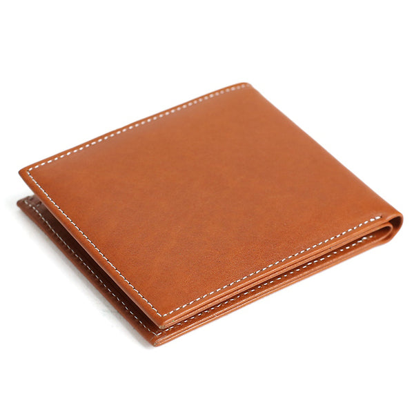 Handmade Full Grain Leather Wallet, Card Holder, Man Short Wallet DB10 - ROCKCOWLEATHERSTUDIO