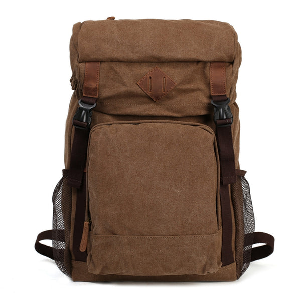 Flash Sale  ROCKCOW Waxed Canvas Backpack, Rucksack, Hiking Travel Backpack AF16 - ROCKCOWLEATHERSTUDIO