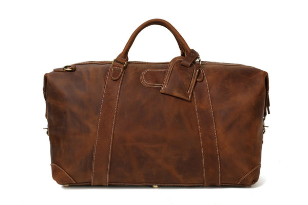e6f87843c ... Vintage Leather Duffle Bag, Leather Travel Bag, Mens Weekend Bag ...