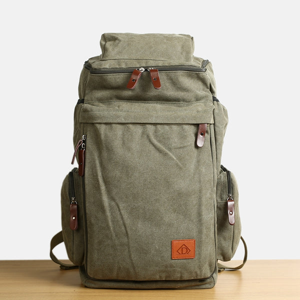 Flash Sale ROCKCOW Waxed Canvas Backpack, Rucksack, Hiking Travel Backpack DN26S - ROCKCOWLEATHERSTUDIO