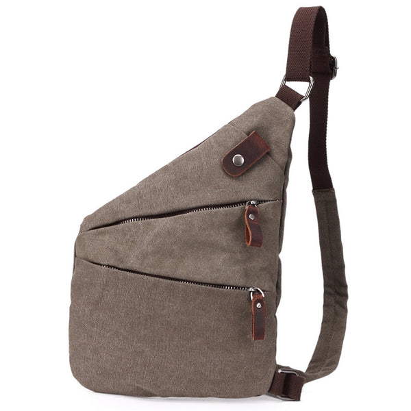 Korean Style Canvas Men Chest Bags Casual Chest Pack Men Crossbody Sling Messenger Bags 8802 - ROCKCOWLEATHERSTUDIO