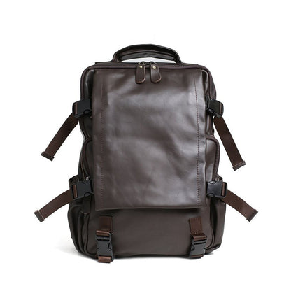 ROCKCOW Genuine Leather Backpack Travel Backpack For Men 5103
