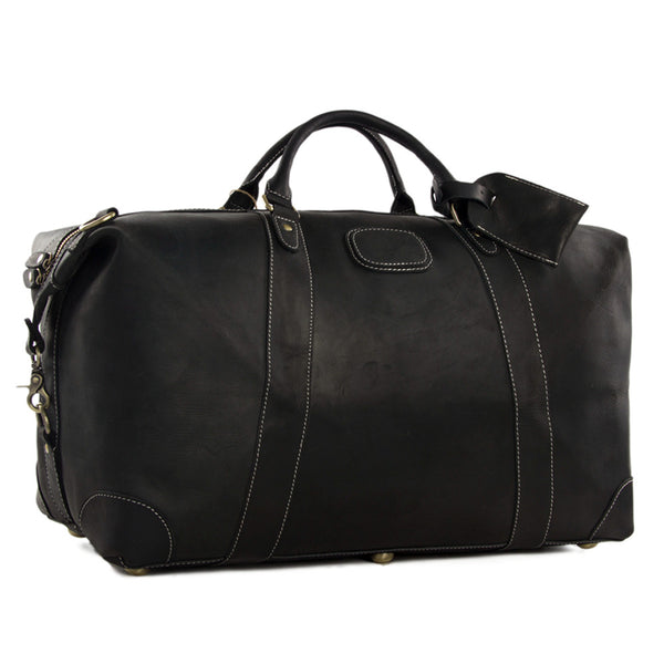 f9959fc1e ... Handmade Full Grain Leather Duffle Bag, Mens Weekend Bag -  ROCKCOWLEATHERSTUDIO ...