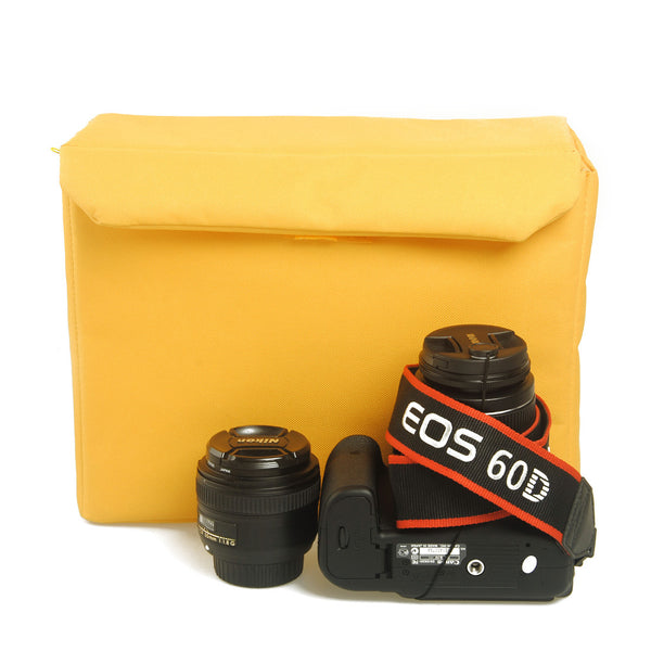 Camera Insert Bag can fit one camera body with attached lens and one extra lens 407