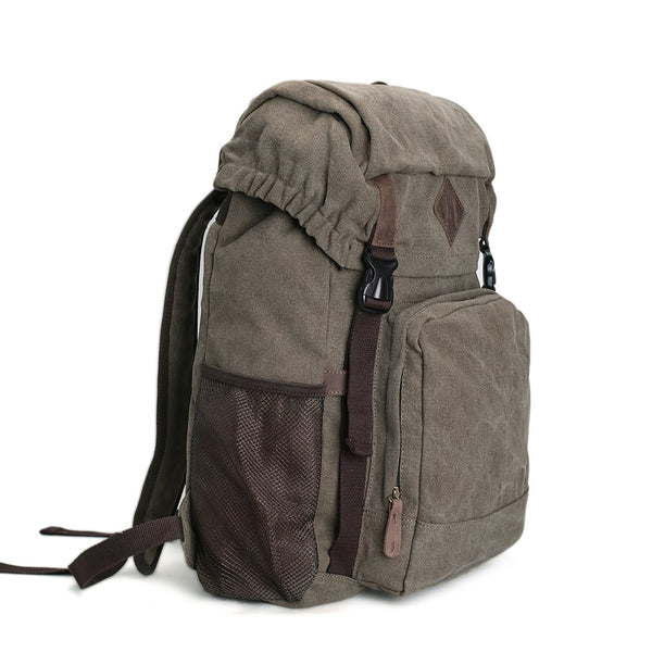 ... ROCKCOW Waxed Canvas Backpack f37fb62f1dcb