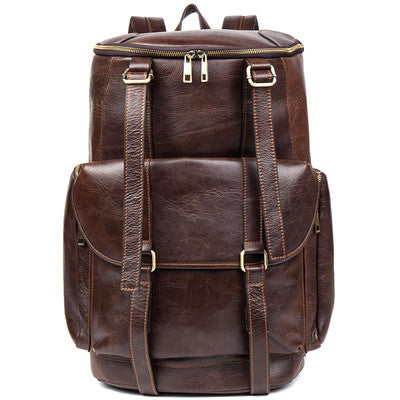 ROCKCOW Handmade Vintage Leather Backpack, Travel Backpack, Men Backpack B185 - ROCKCOWLEATHERSTUDIO