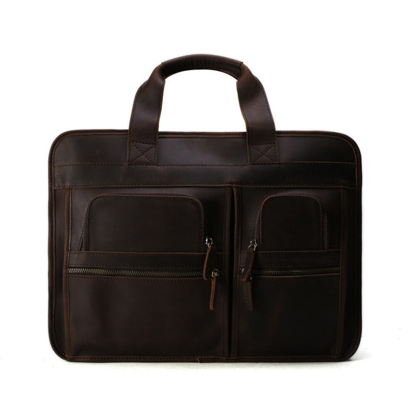 ... Handmade Multi-Use Italian Leather Luggage Bag Travel Bag Laptop  Briefcase DZ11 - ROCKCOWLEATHERSTUDIO ... 256c2ff74326f