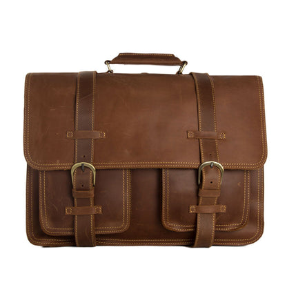 02b349a1a3 Large Functional Leather Travel Bag