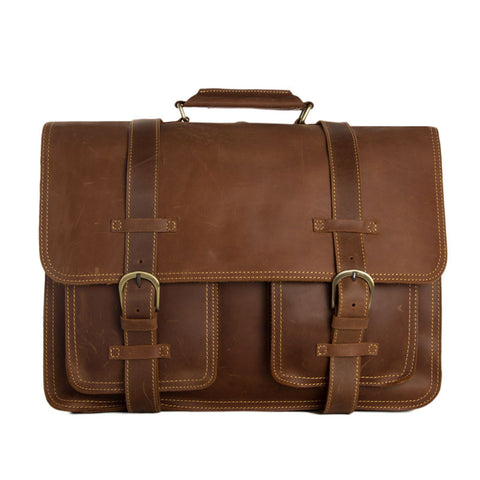 Large Functional Leather Travel Bag, Leather Duffle Bag, Leather Backpack PL340 - ROCKCOWLEATHERSTUDIO