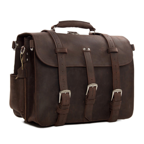Super Large Multi-Use Leather Travel Bag, Duffle Bag, Leather Backpack 7072 - ROCKCOWLEATHERSTUDIO