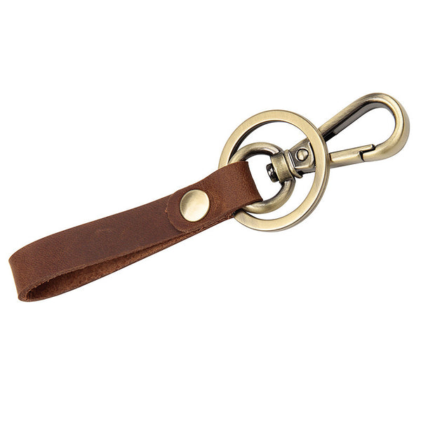 Rockcow Full Grain Leather Key Chain Personalized Key Ring Husband Gift Boyfriend Gift 8432