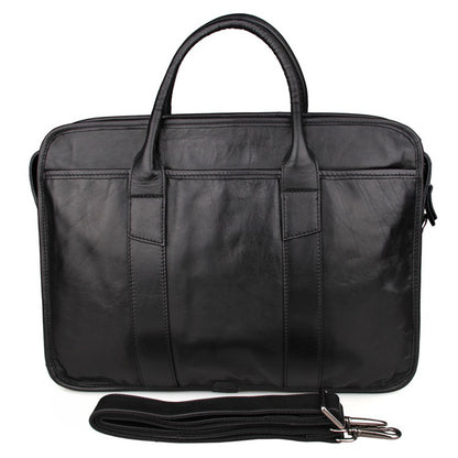 Handmade Full Grain Leather Briefcase Men's Business Laptop Satchel Messenger Shoulder Bags 7321 - ROCKCOWLEATHERSTUDIO