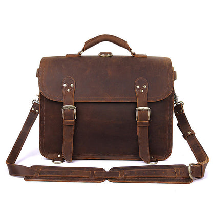 df504c7824 Handmade Crazy Horse Leather Messenger Bags Brown Vintage Shoulder Bags  7370R - ROCKCOWLEATHERSTUDIO