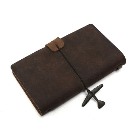 Handmade Leather Journal, Journals for Men, Leather Notebook, Rustic Leather Diary 00002 - ROCKCOWLEATHERSTUDIO