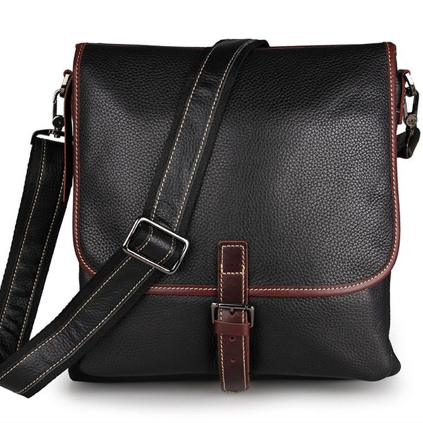 Rockcow Top Grain Leather Messenger Bags Men's Vintage Shoulder Bags Travel Satchel 7312 - ROCKCOWLEATHERSTUDIO