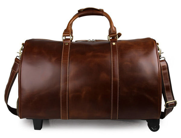 021bf5544e5e Handmade Extra Large Vintage Full Grain Leather Travel Bag, Duffle Bag,  Holdall Luggage Bag 12026