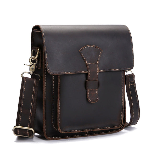 3943a141bdcc Handmade Vintage Leather Messenger Bags, Mens Leather Shoulder Bags 1106