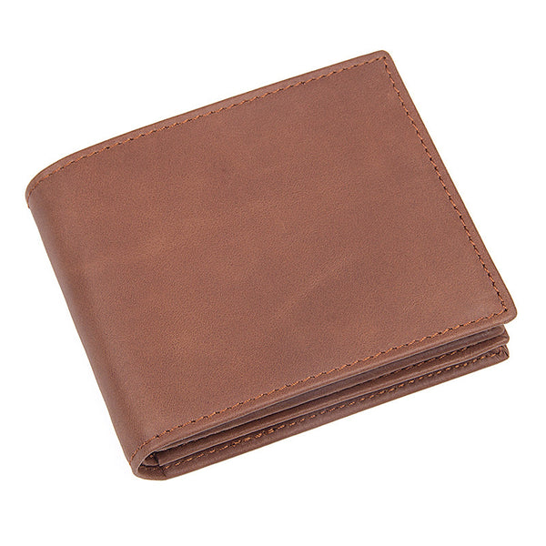 Handmade Top Grain Leather Wallets Minimalist Leather Wallet Men RFID Wallet 8056