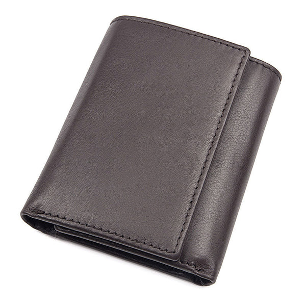 Personalized Men's Wallet Trifold Wallet Top Grain Leather Wallet RFID Wallet  Gift for Dad 8105