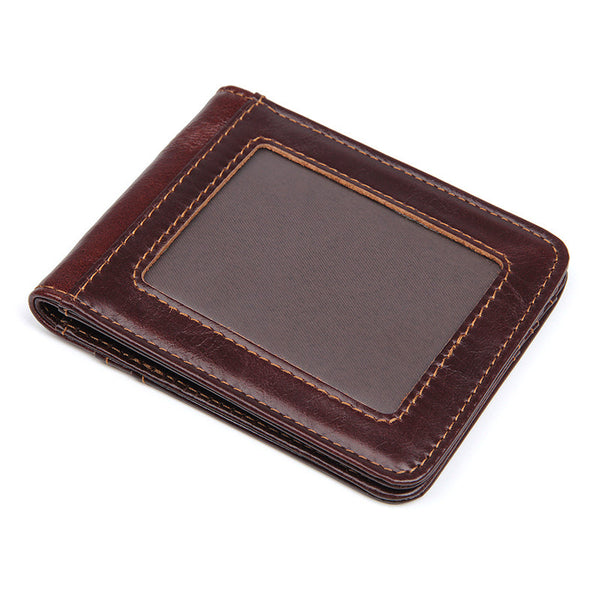 Handmade Top Grain Leather Wallets RFID Personalized Leather Wallet Perfect Men's Gift Card Holder 8333Q - ROCKCOWLEATHERSTUDIO
