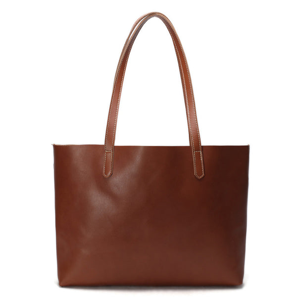 Vintage Genuine Leather Women Tote Bag, Shopping Bag, Shoulder Bag ZB-01 - ROCKCOWLEATHERSTUDIO