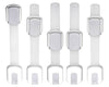 Adjustable Child Safety Locks - Latches to Baby Proof Cabinets & Appliances White, 5 pack