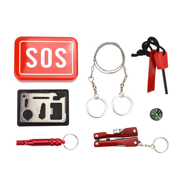 Portable SOS Survival Kit/Outdoor Emergency Kit/First Aid Tools For Outdoor Camping Hiking Hunting Biking Climbing Traveling and Emergency