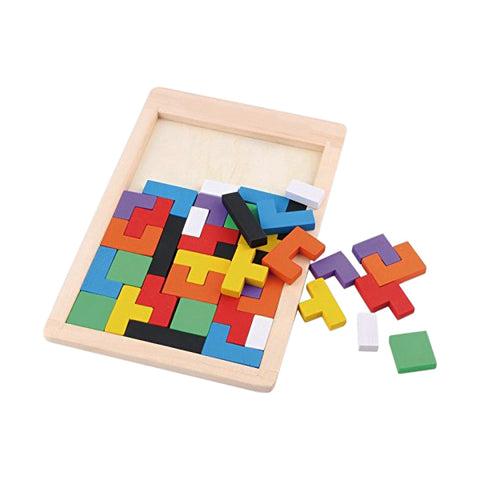 Wooden Tetris Puzzle 40 Pcs Brain Teasers Toys for Kids