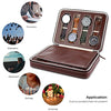 8 Slots Zippered Watch Box Travel Watch Storage Case Portable Organizer (Brown)