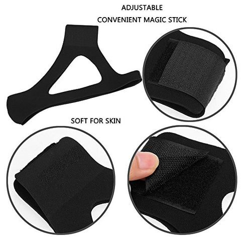 Anti Snore Chin Strap,Adjustable Stop Snoring Chin Strap,Reduce sleep stress(Black)