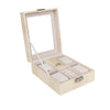 PU Leather Lockable Jewelry Display Box With Lid